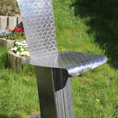 Chaise acier brut