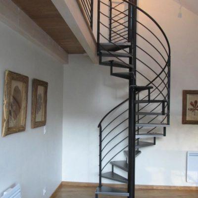 Escalier hélicoîdal & gardes-corps - Laroquebrou (15)