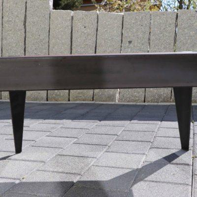Table basse acier brut & rouillé